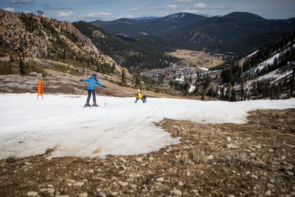 No Snow Left Behind: This is what Squaw Valley ski resort looks like in late March 2014 (Max Whittaker, Getty Images)