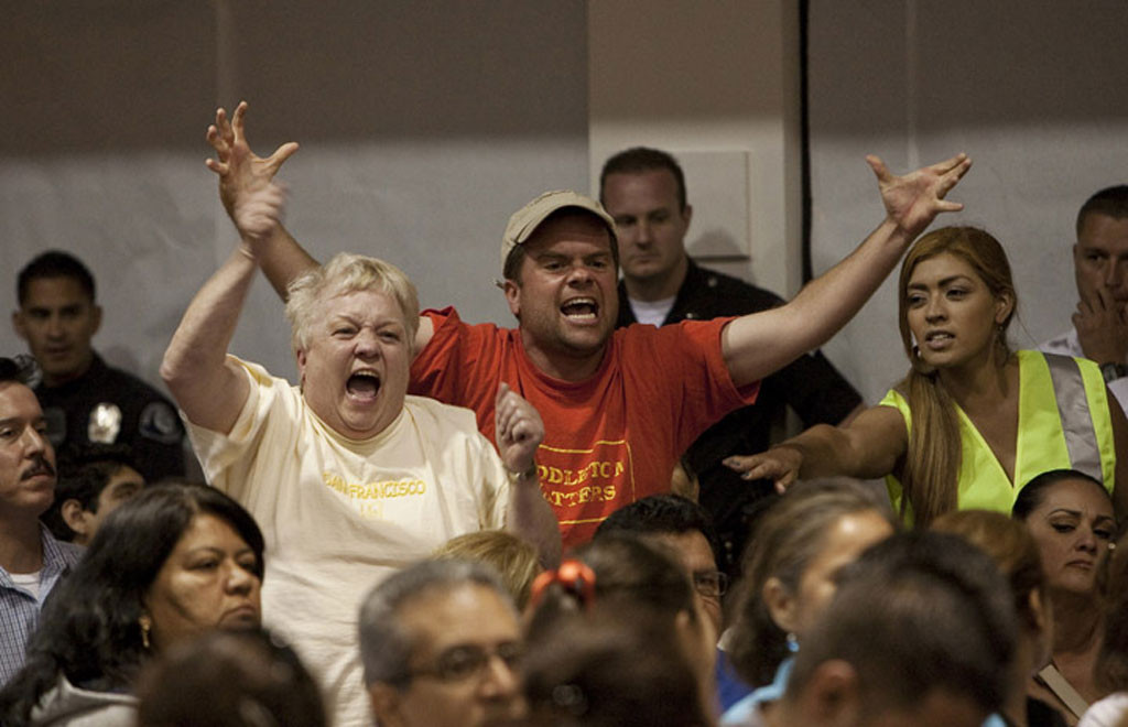 Residents are raging mad at a city council meeting in California