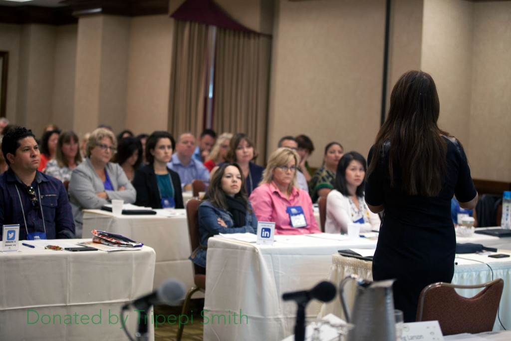 Rumi Portillo speaks during a session (Photo courtesy Tripepi Smith & Associates)