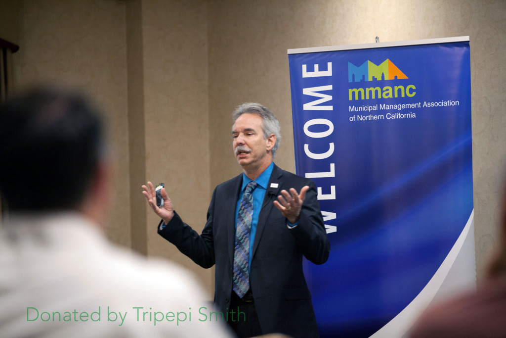 Livermore City Manager Marc Roberts talks about land use at the MMANC Annual Conference in Sacramento, October 2015